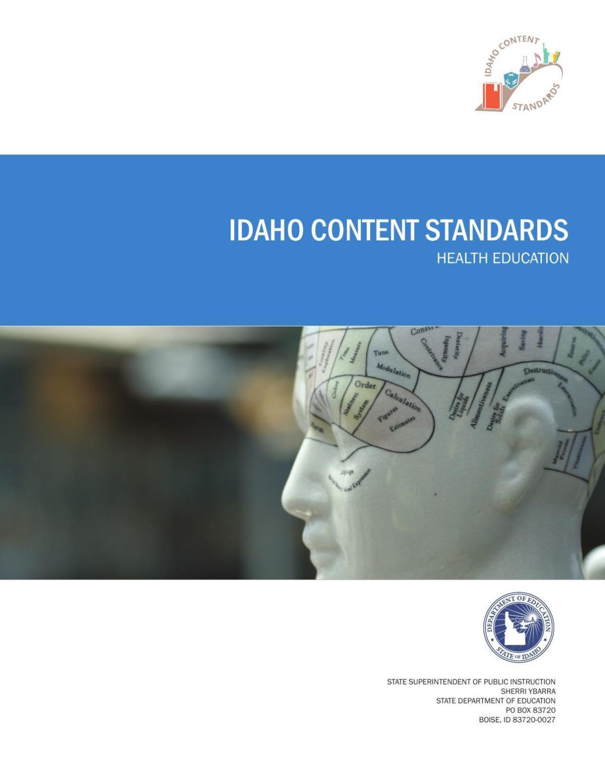 Idaho health education content standards