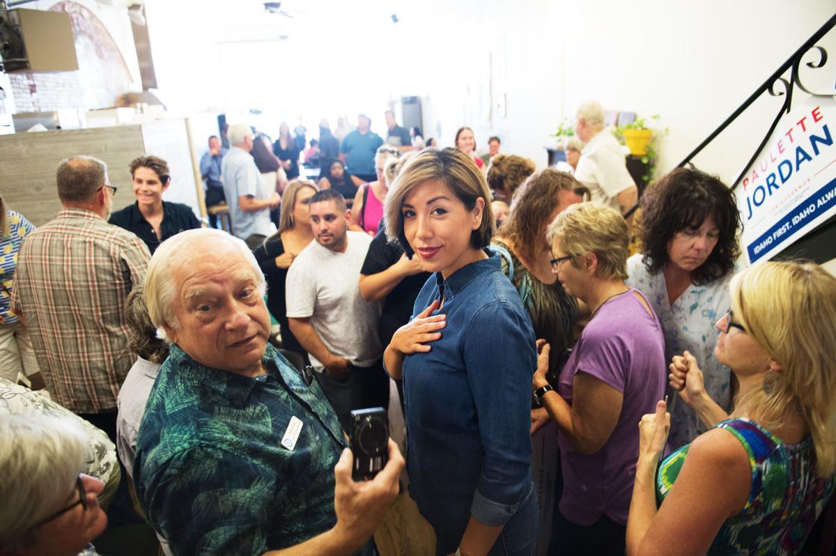 Democrat Jordan visits downtown Twin Falls