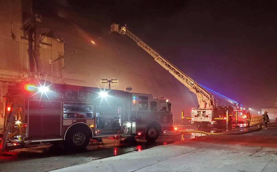 Fire at Amalgamated Sugar