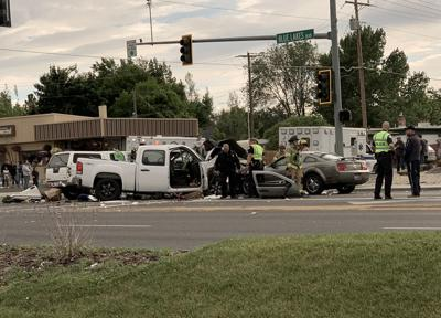 UPDATE: 6 taken to hospitals after 4-car crash on Blue Lakes
