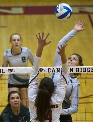 PHOTOS: Burley girls volleyball sweeps Canyon Ridge