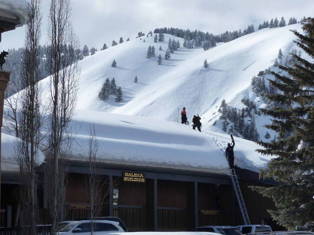 Sun Valley - roof shoveling