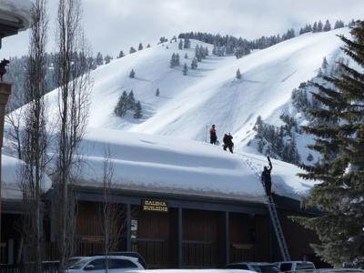 Sun Valley - roof shoveling