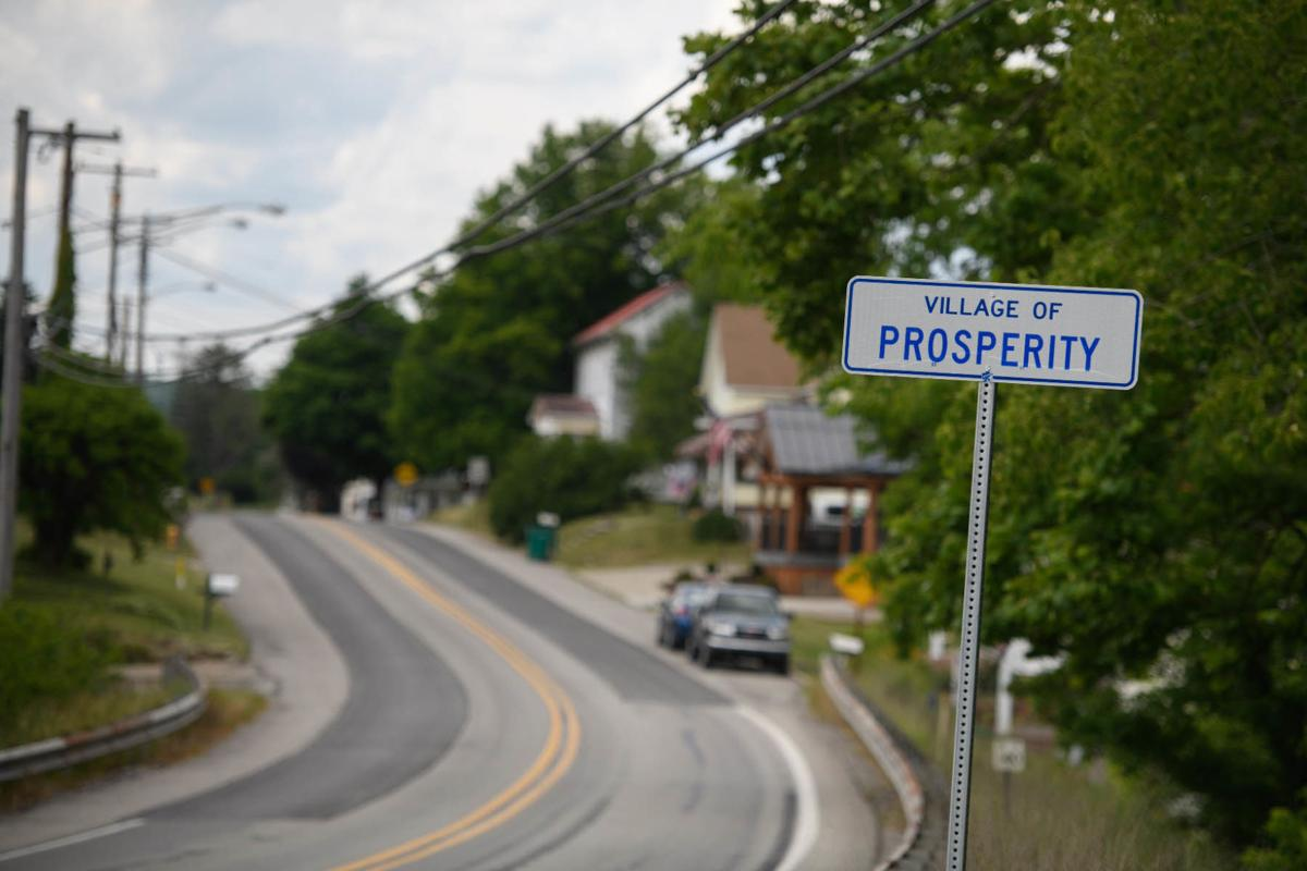 The sign for the village of Prosperity