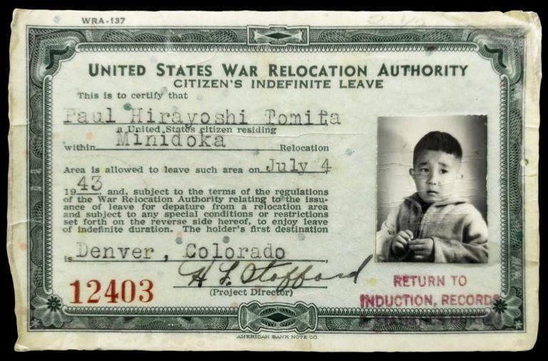 Paul Tomita's exit card