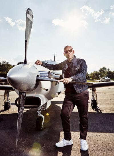 Michael Fabiano and plane