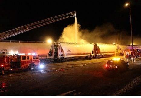 Train car fire 02-17-15