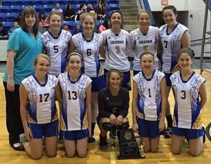 Columbia Christian state runner-up in volleyball, junior