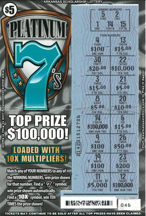 Smackover woman wins $100,000 Arkansas lottery scratch-off