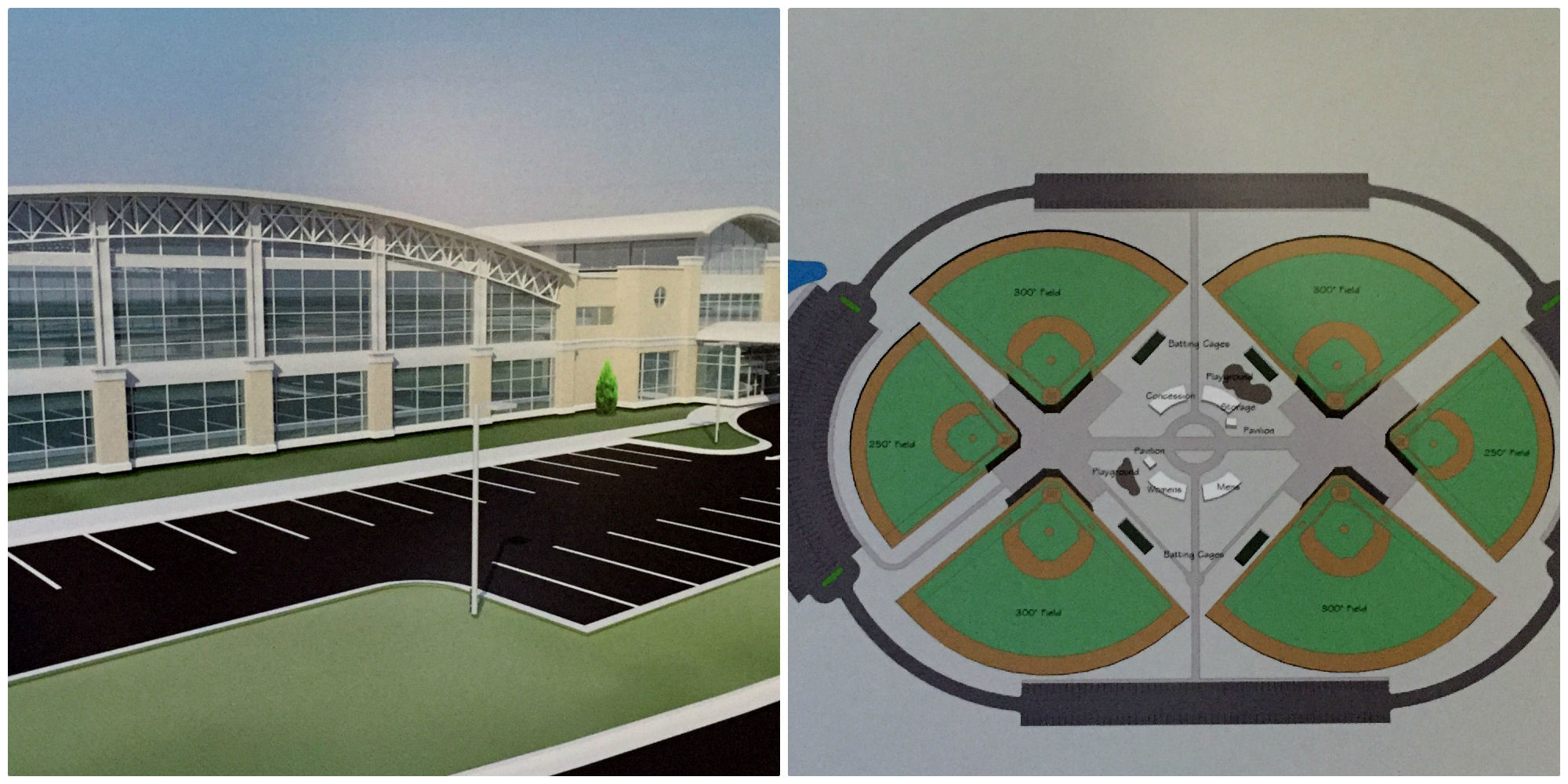 Recreation center and ballfields With election nearing