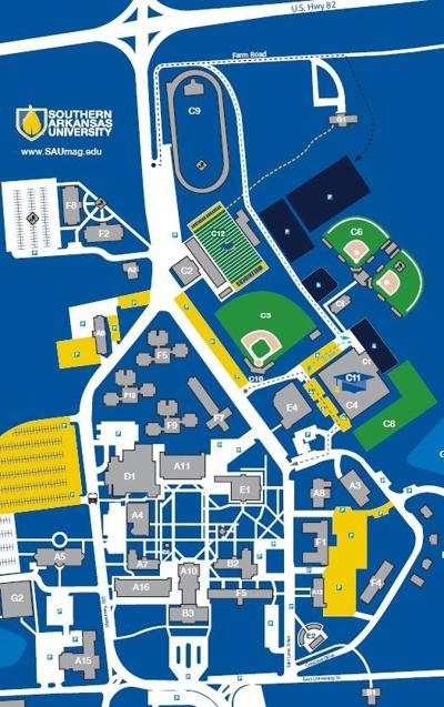 sau magnolia campus map With Pdf Of Parking Plan Southern Arkansas University Will