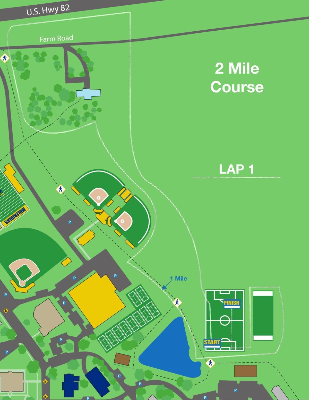 2-mile course