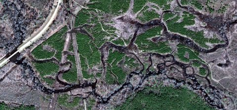 Dorcheat bayou will be focus of sau stream team conservation this google earth satellite image shows dorcheat bayou southeast of arkansas 160 between taylor and macedonia freerunsca Gallery