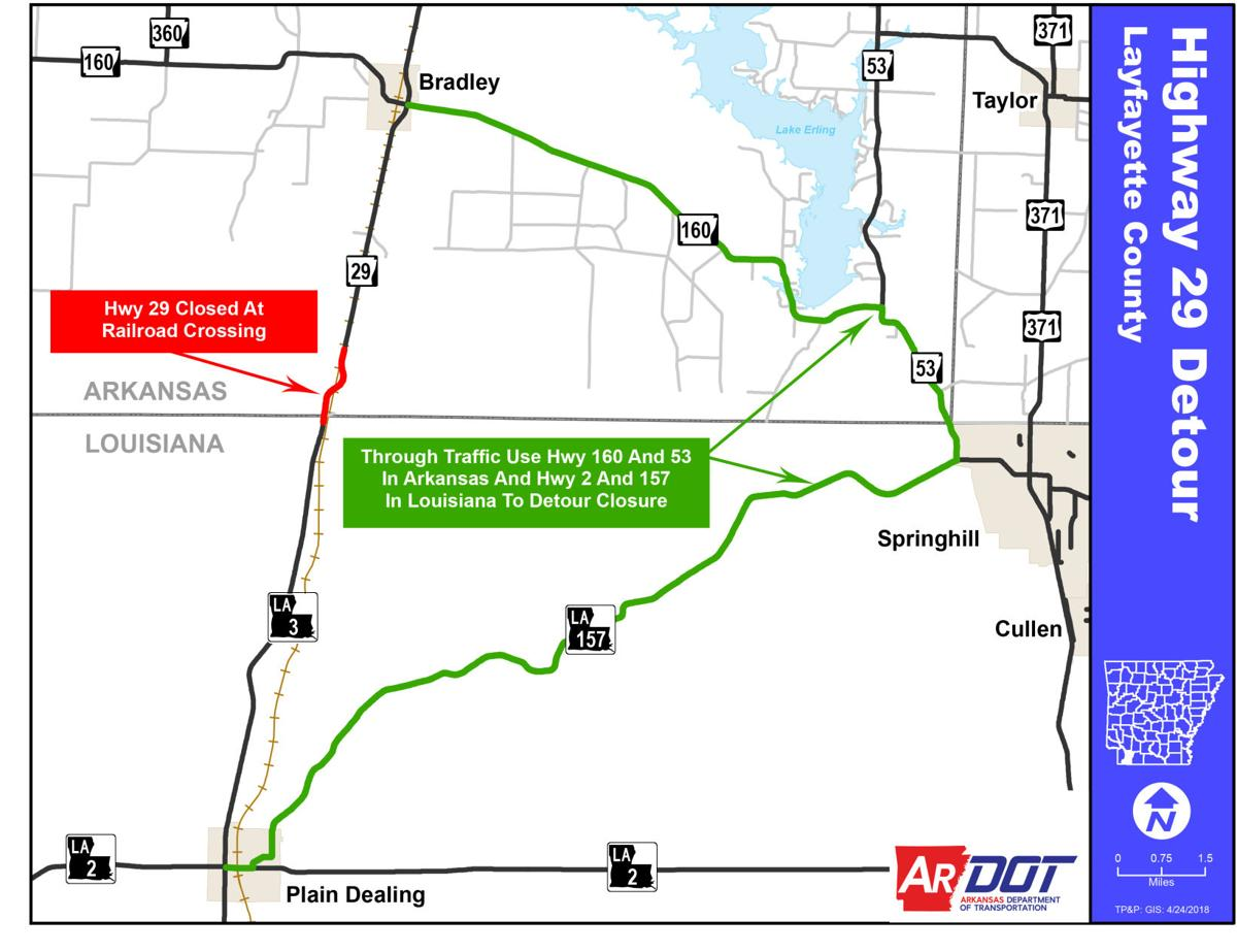 Arkansas 29 railroad crossing will be repaired on Sunday, traffic ...