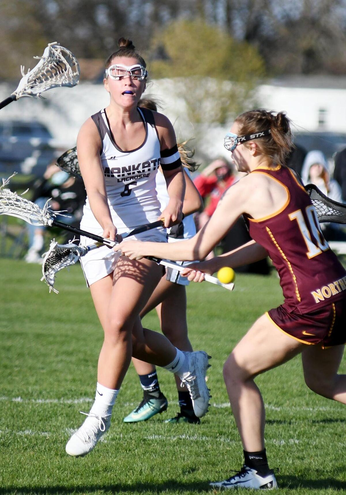 Mankato girls lacrosse vs. Northfield 1