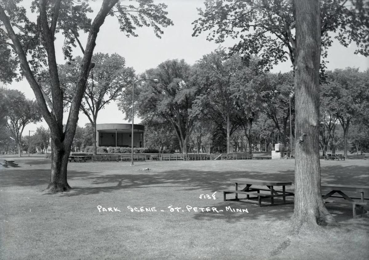 Minnesota Square Park pavilion 1958