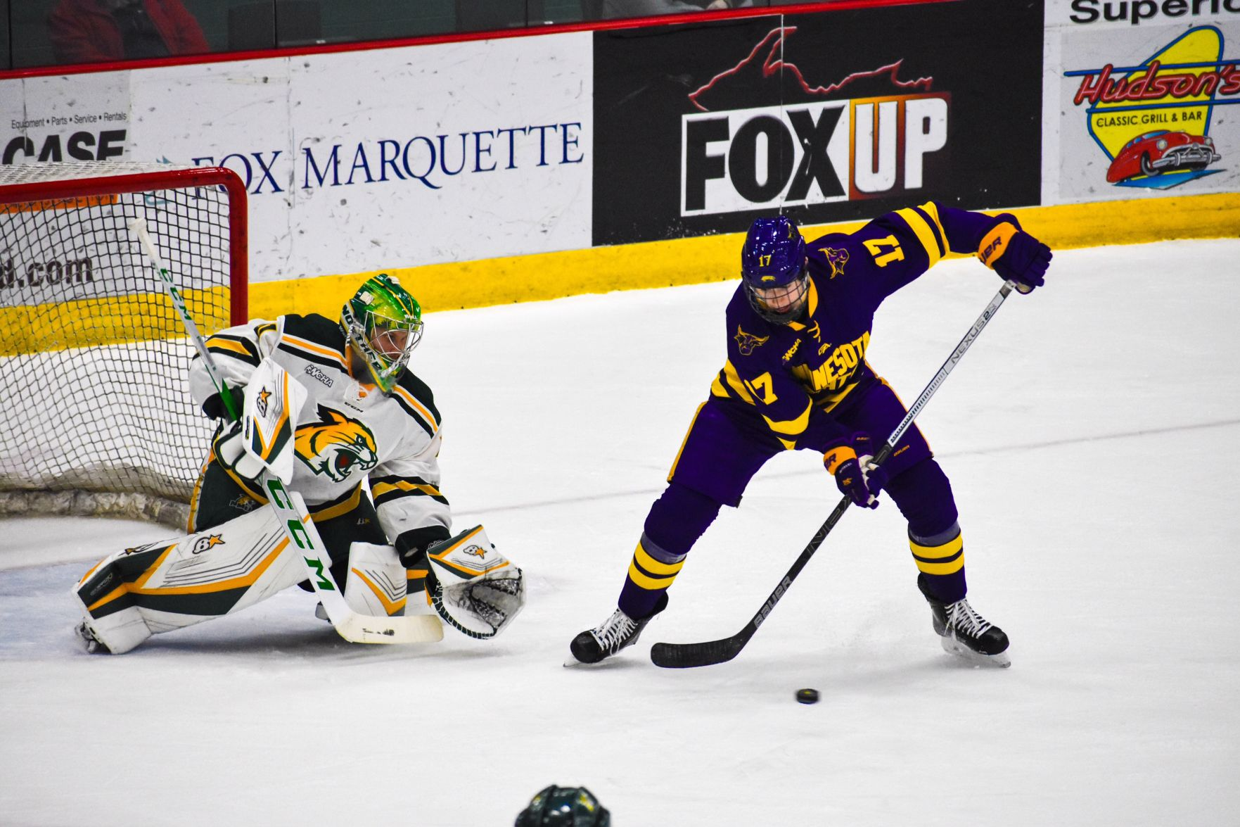 WCHA: Mavericks Score Early, Often In Rout Of Wildcats