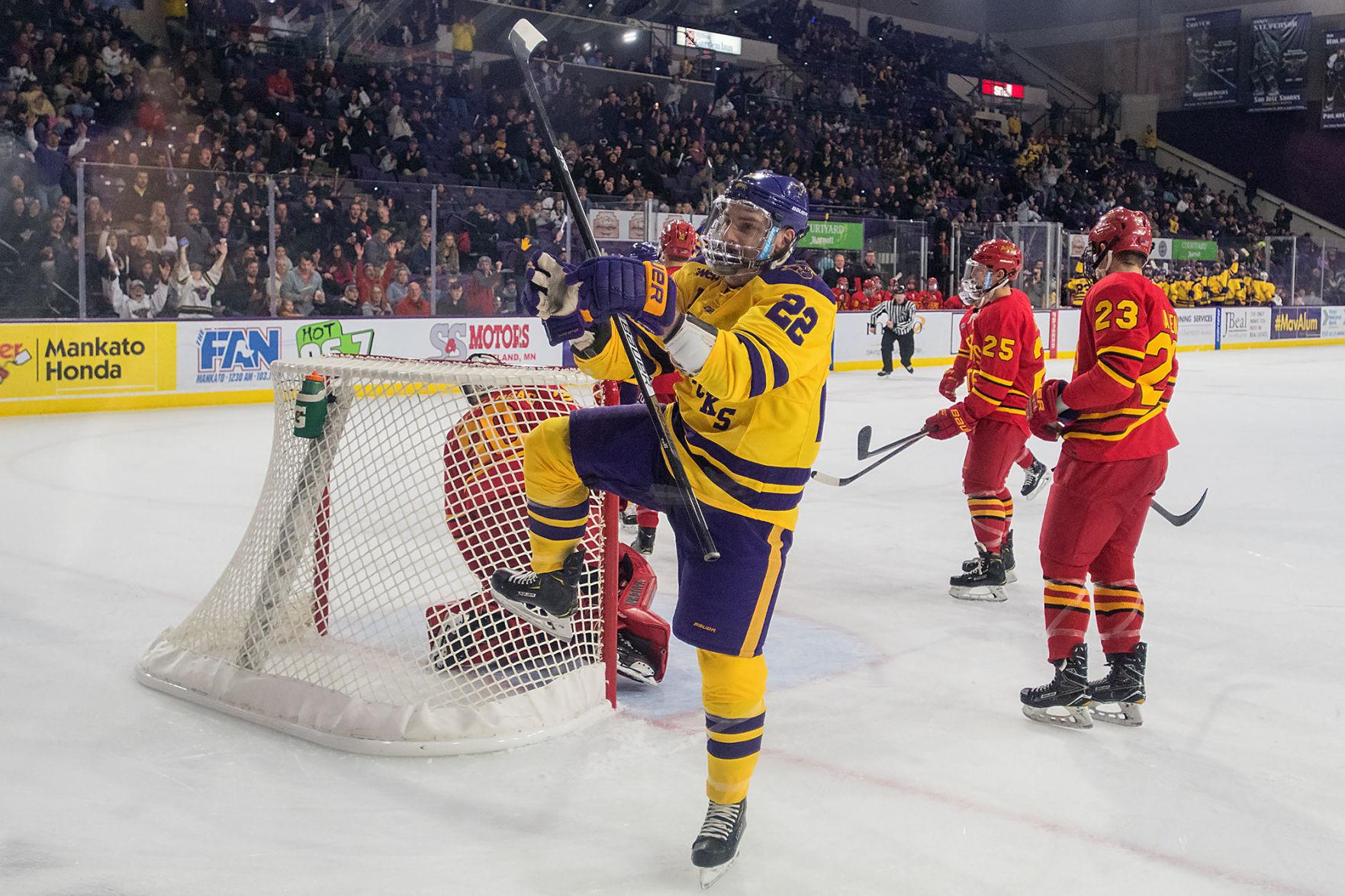 WCHA: Mavericks Come Out Of Break Flying, Beat Bulldogs 7-1 | MSU Men's Hockey | Mankatofreepress.com