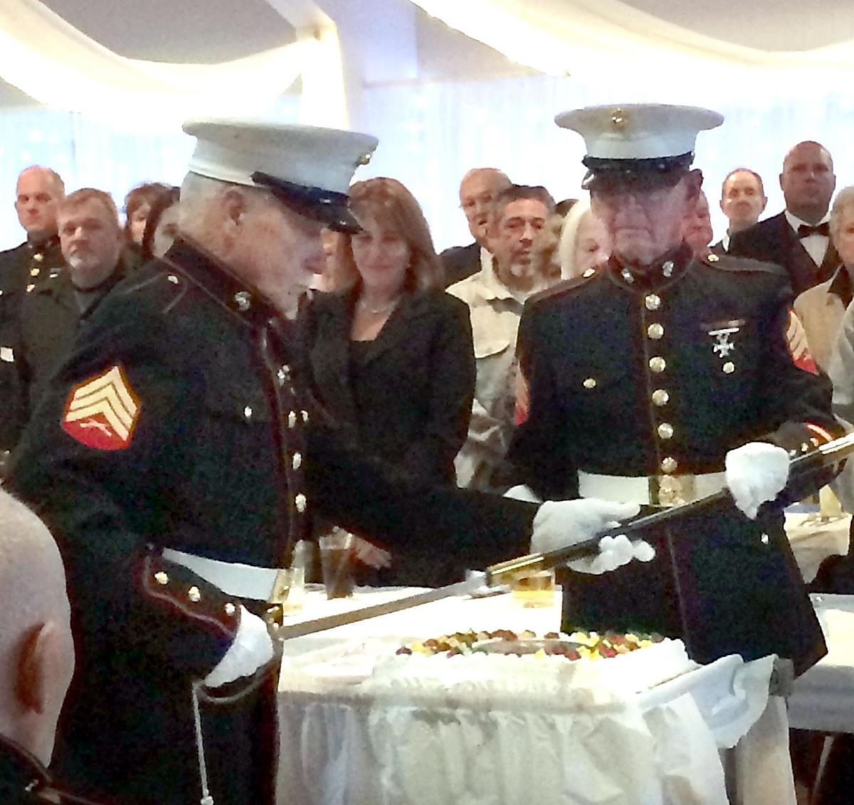 Veterans cake cutting