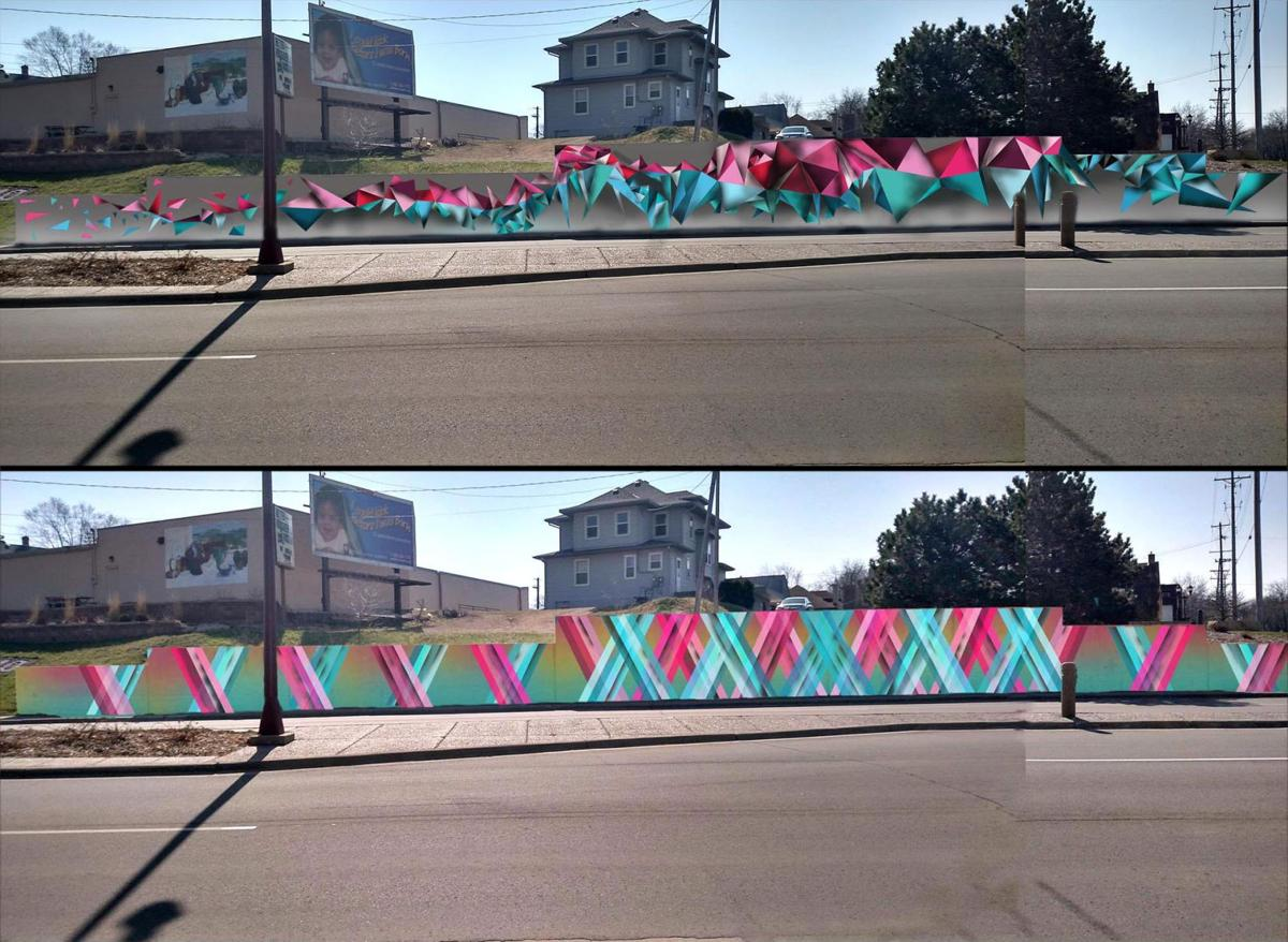 riverfront mural concept completed news mankatofreepress com proposed riverfront mural original and final