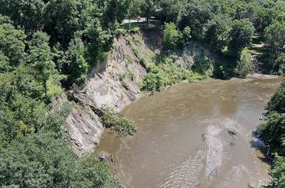 Le Sueur River bank erosion