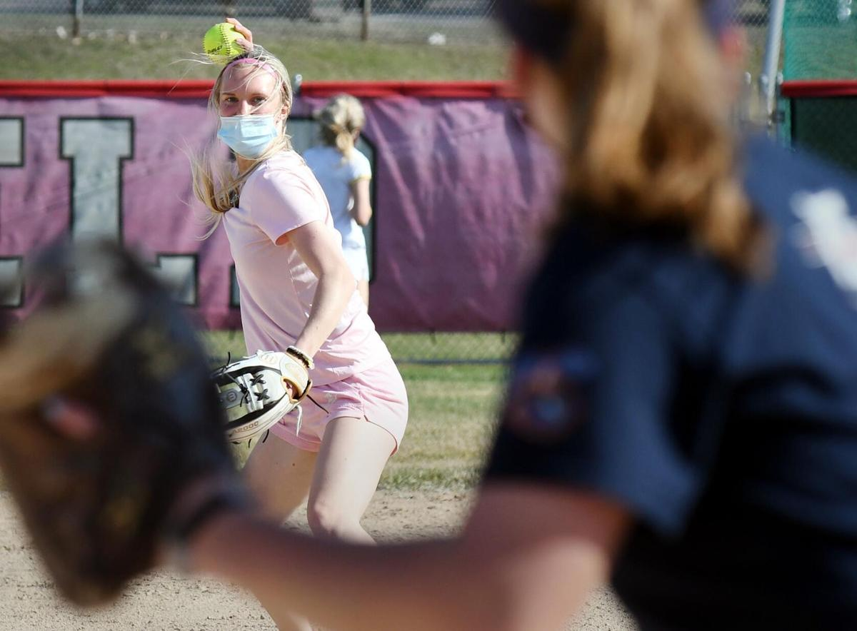 West softball practice 4-7
