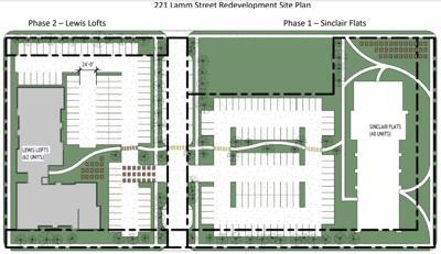 Lewis Lofts Sinclair Flats site layout