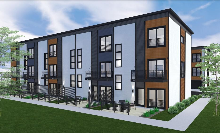 Adams Street Townhomes rendering
