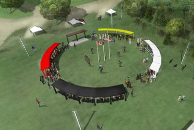 Pow wow canopy rendering