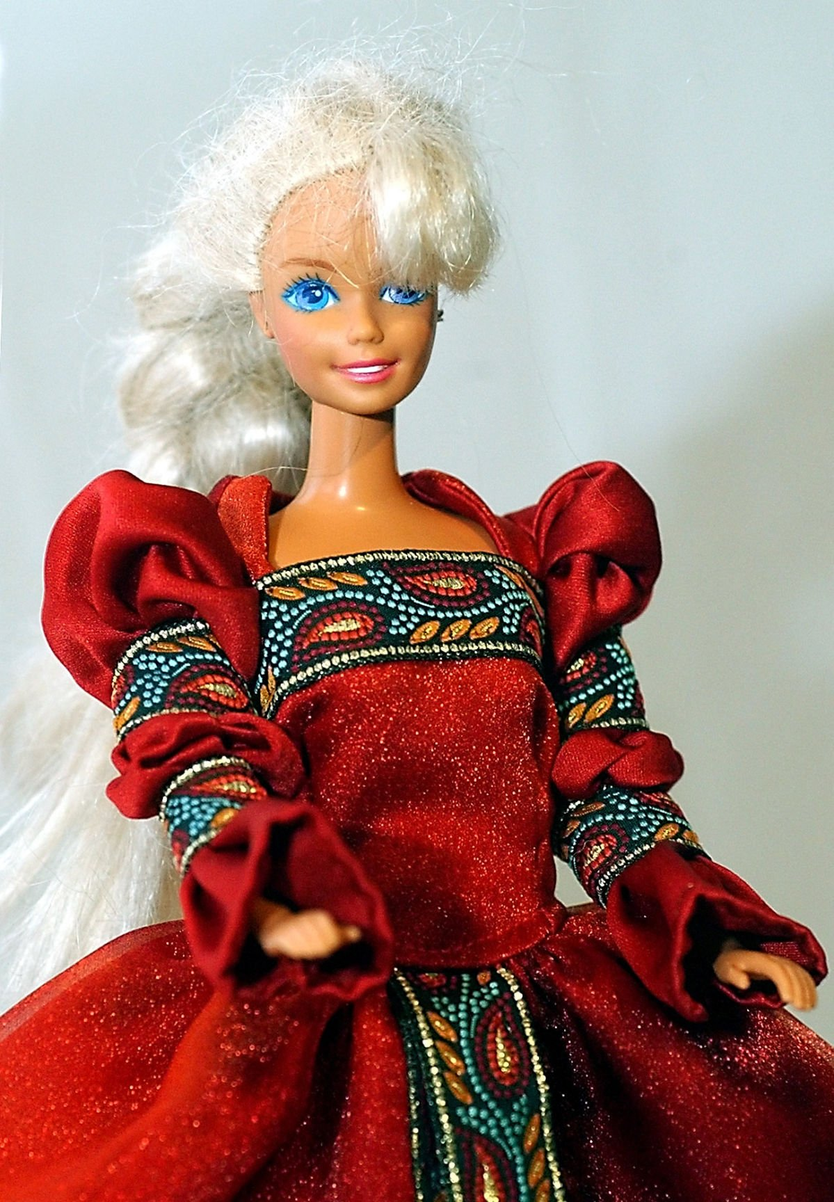 Orange /& Hot Pink Variegated Knit Mermaid Barbie Dress  Barbie Handmade Purple