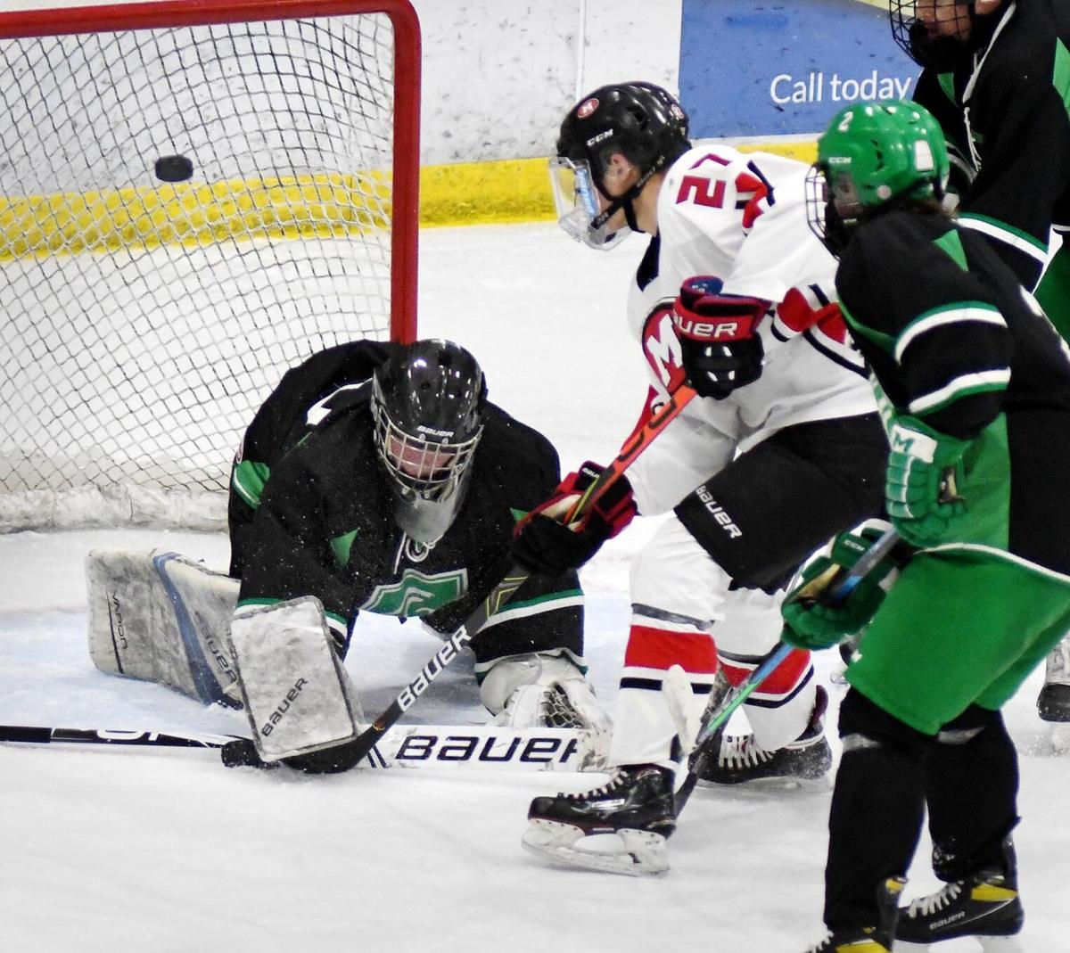 West vs. La Crescent hockey 1