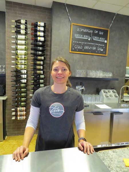 TRIPLE PLAY Trio offers coffee, wine and ale
