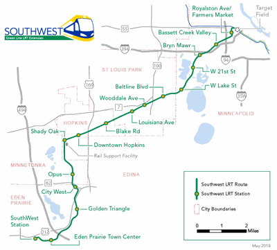 Light rail to reach a bit closer to Mankato by 2023   Local