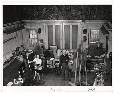 Dehn artists at work in studio