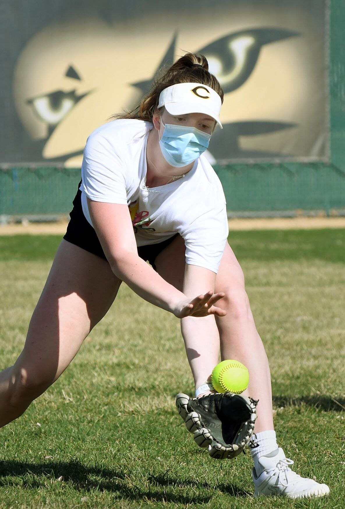 East softball practice 4-7