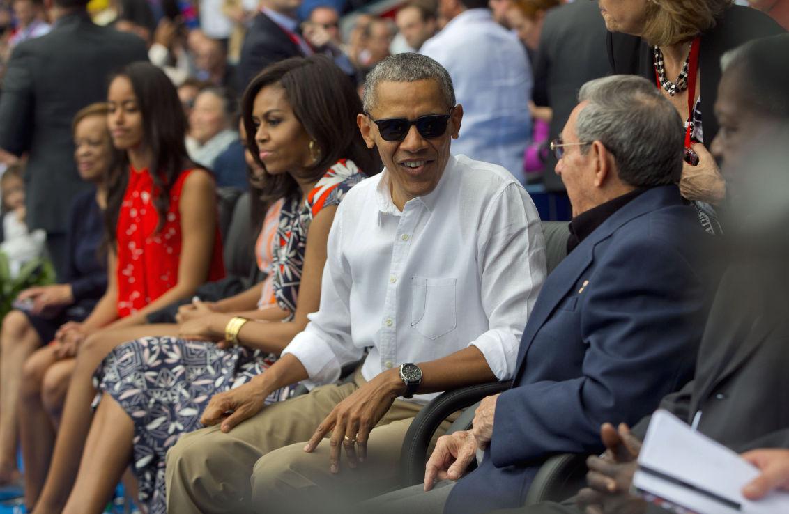 Obama US Cuba Baseball