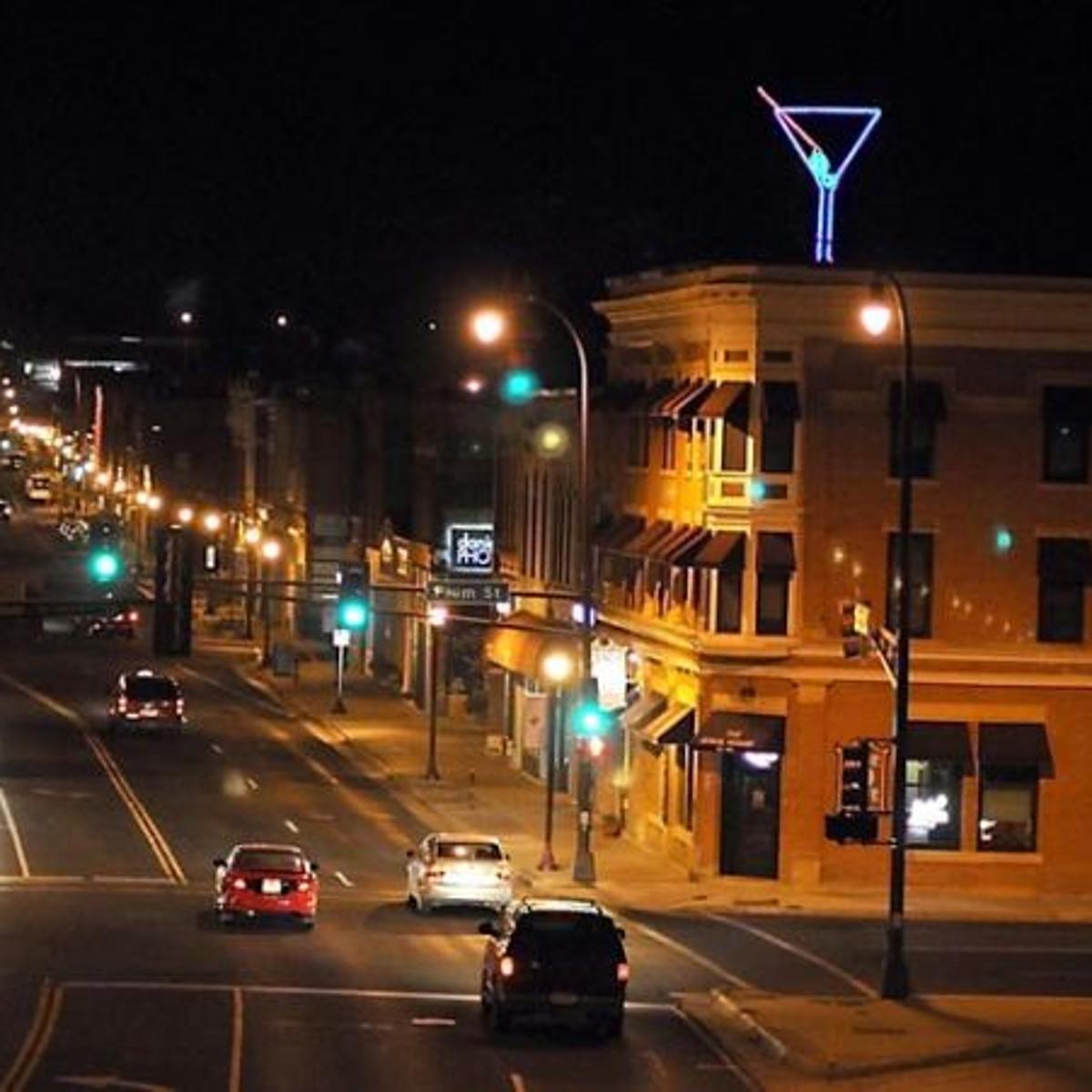 Rooftop martini glass shakes up city | Local News | mankatofreepress com