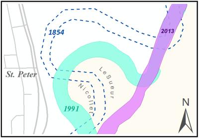 Map of Minnesota River change