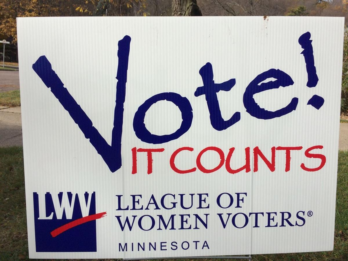 League of Women Voters sign