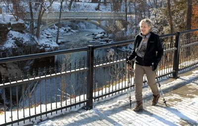 Janet Miller at Minneopa