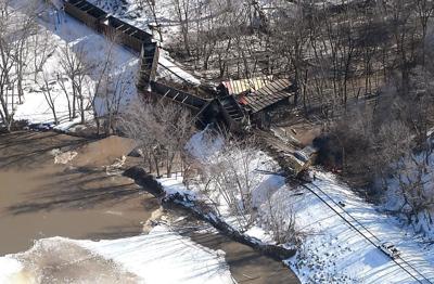 UPDATE: UP locomotive catches fire when train derails near