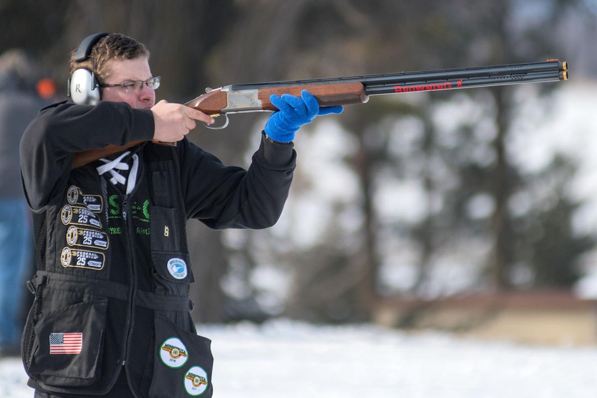 Jackson Gibbs Takes Aim At A Clay Pigeon The Caribou Gun Club In Rural Le Sueur On Wednesday 9th Grader Cleveland High School