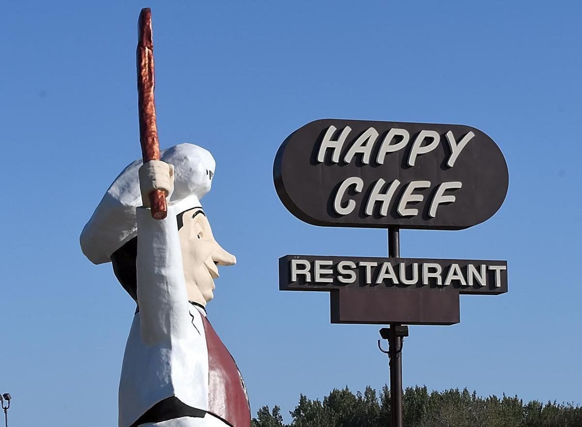 happy chef statue has his voice back local news