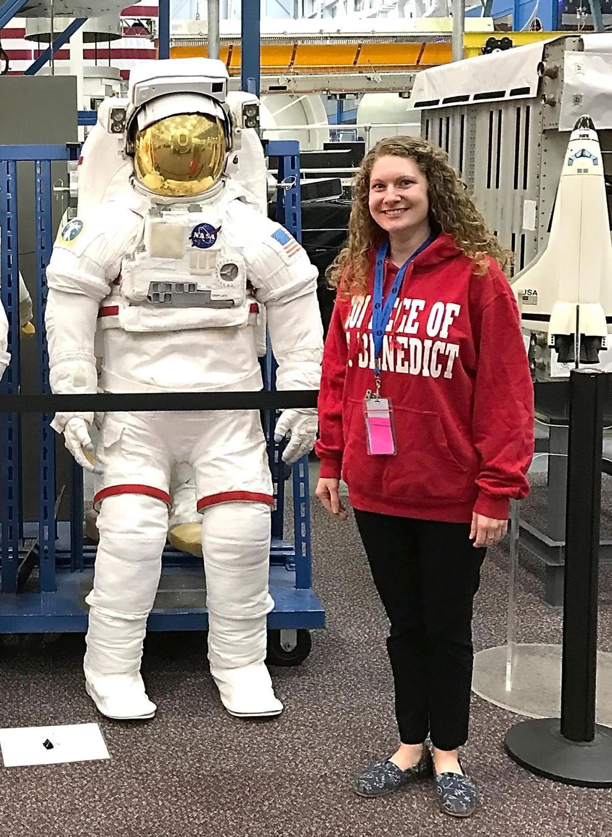 NASA teacher space suit