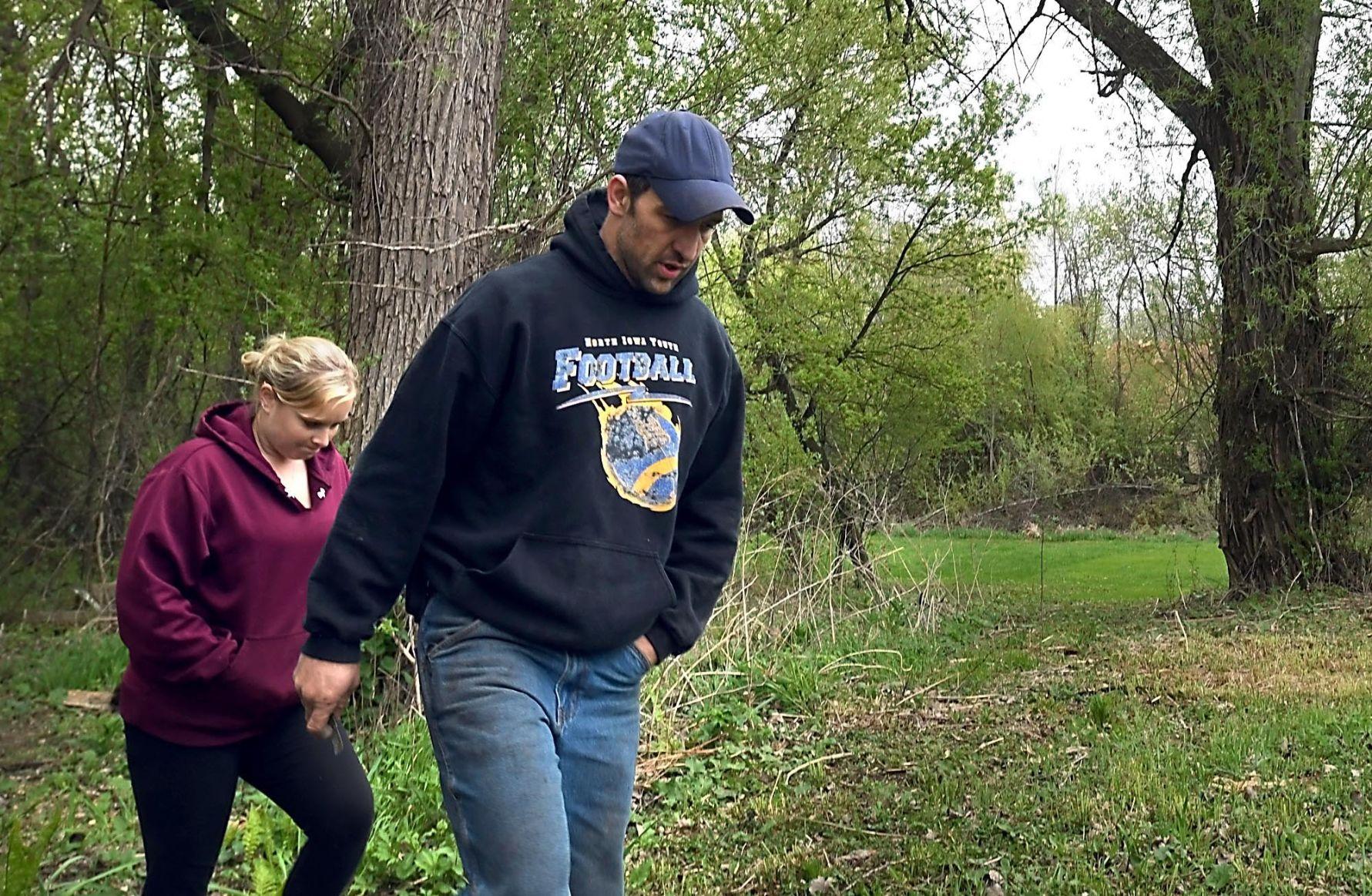 Randy and April Bade take a walk