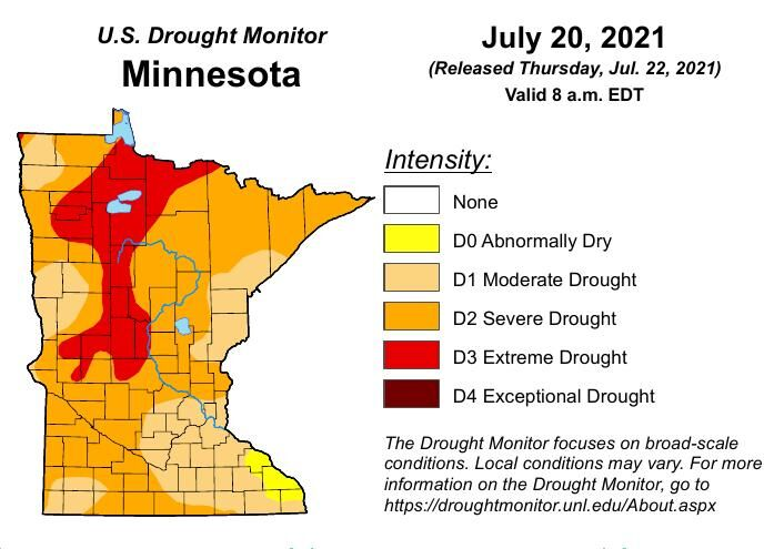 July 22 drought map
