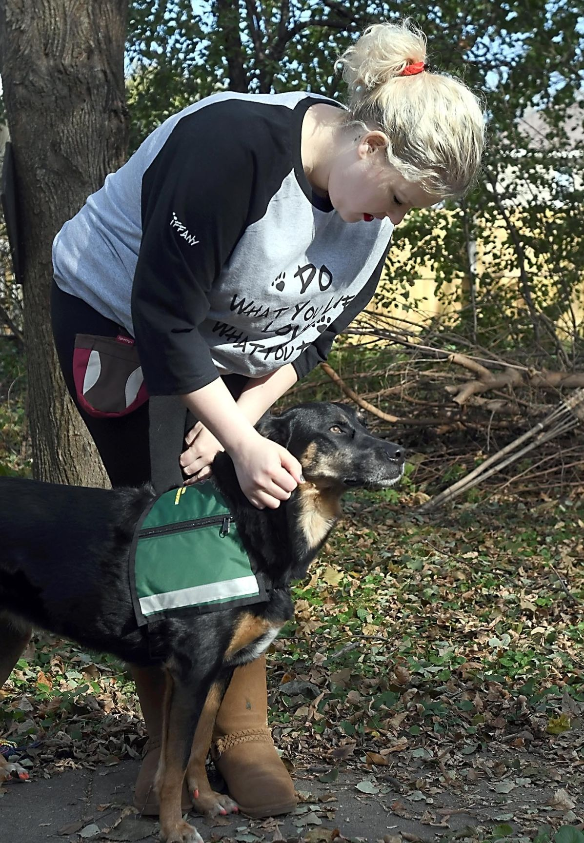Crisis trained pooch a doggone help in tragedies with video tiffany adams pets her crisis trained dog liberty at their home in mankato the duo has been therapy trained for awhile but recently attained further xflitez Images