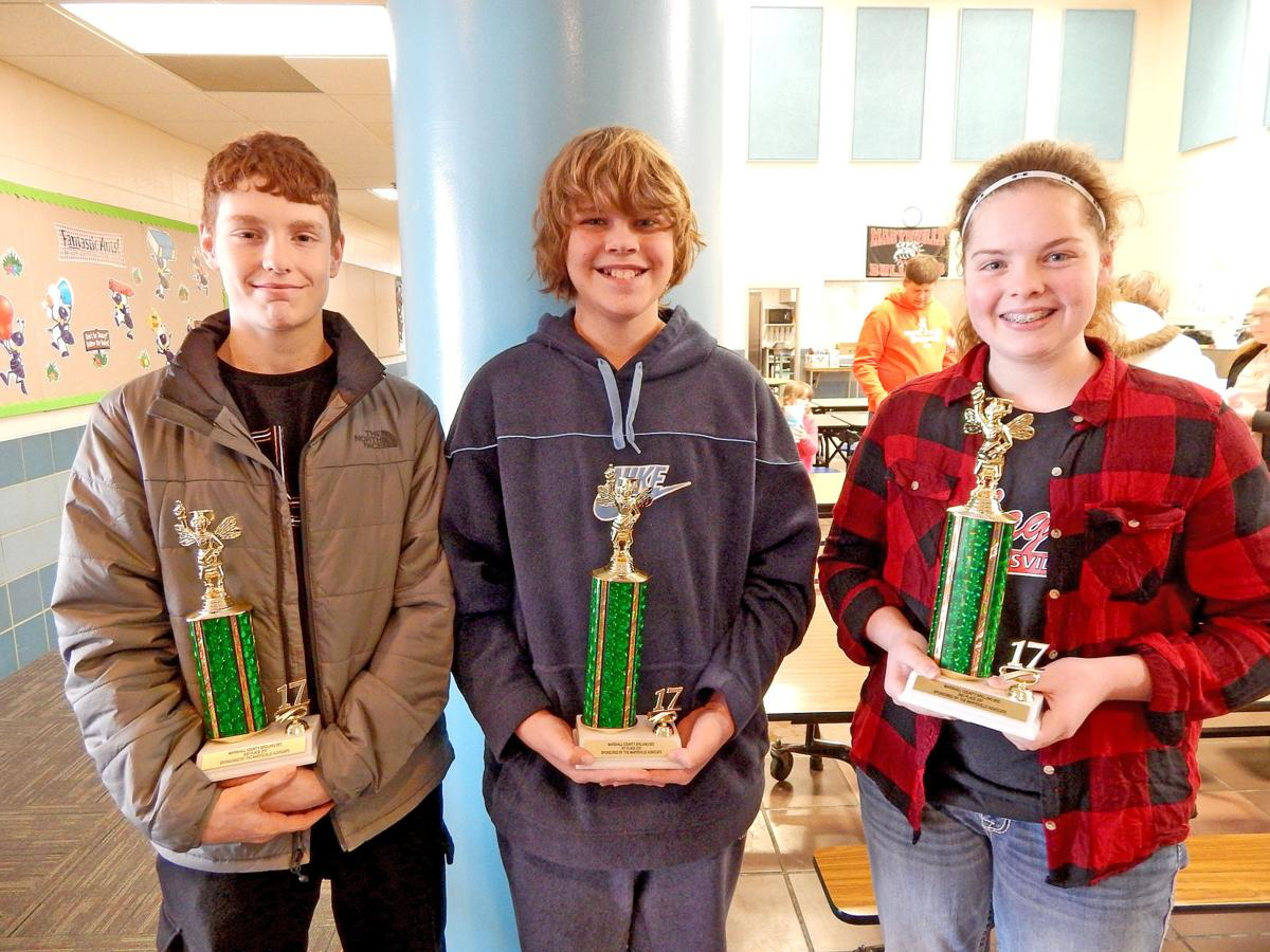 Kansas marshall county axtell - Top Finishers In The Marshall County Spelling Bee Saturday Were From Left Zach Haefele Third Place Xander Hull First Place And Elizabeth Bohlken