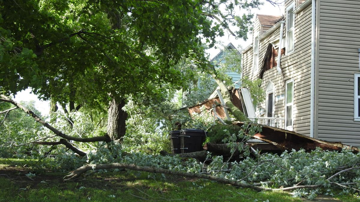 Storm tears up trees, damages homes