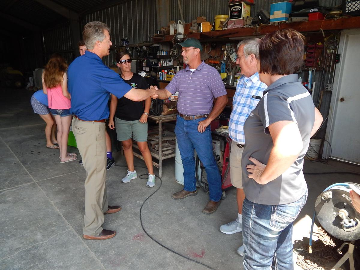 marshall makes campaign stop at local farm news